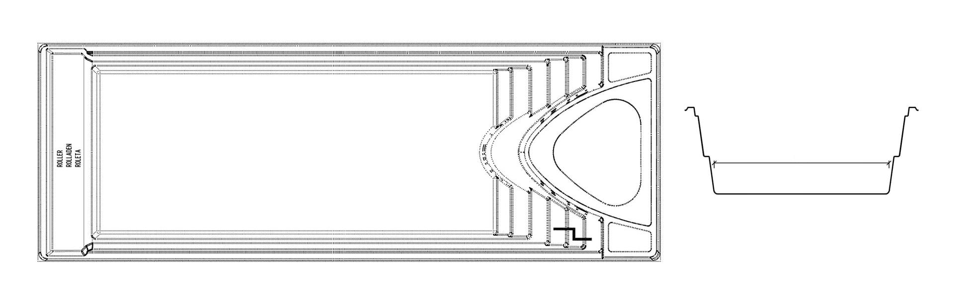 Yacht pool чертеж